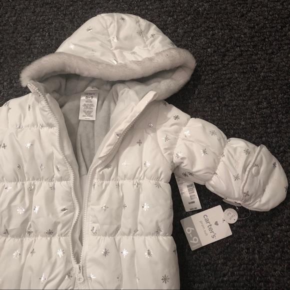 aed4b8018 Carter's Jackets & Coats | Nwt Carters Girls Snowsuit Winter Coat ...